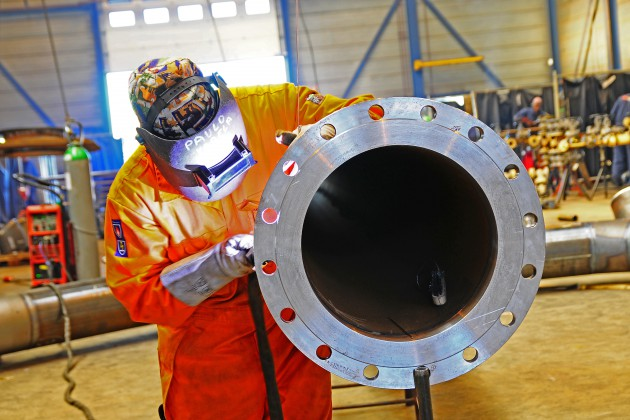 Prefabrication pipe flange